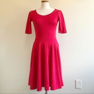 Lularoe Rose Textured Solid fit and flare dress